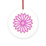 Double Neon Flower Keepsake (Round)