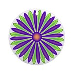 Cool Inverted Daisy Petals Keepsake (Round)