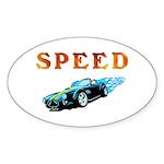 Speed Cars Oval Sticker (10 pk)