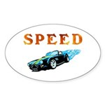 Speed Cars Sticker (Oval 50 pk)