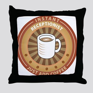 Instant Receptionist Throw Pillow
