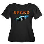 Speed Cars Women's Plus Size Scoop Neck Dark T-Shi