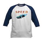 Speed Cars Kids Baseball Jersey