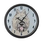 Bouvier des Flandres Large Wall Clock