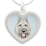 Bouvier des Flandres Silver Heart Necklace