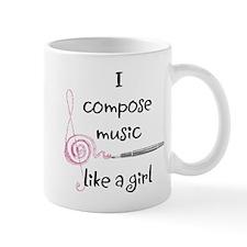 I compose music like a girl Mug