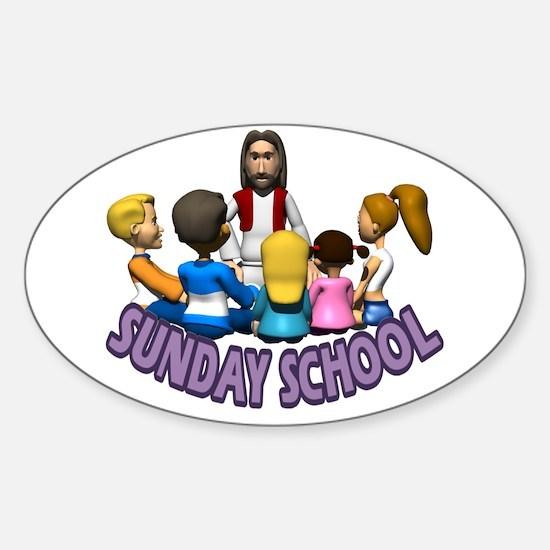 Sunday School Oval Decal