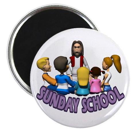 "Sunday School 2.25"" Magnet (100 pack)"