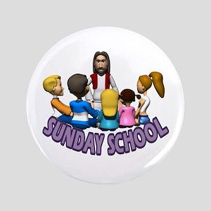 "Sunday School 3.5"" Button"