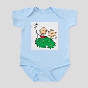 Stick Figures Clean Up Infant Bodysuit