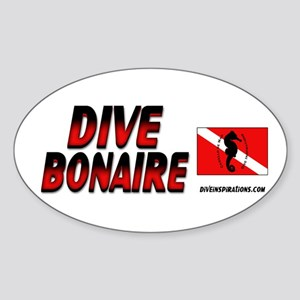 Dive Bonaire (red) Oval Sticker
