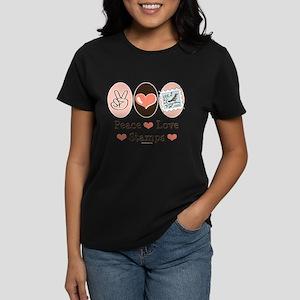 Peace Love Stamps Women's Dark T-Shirt