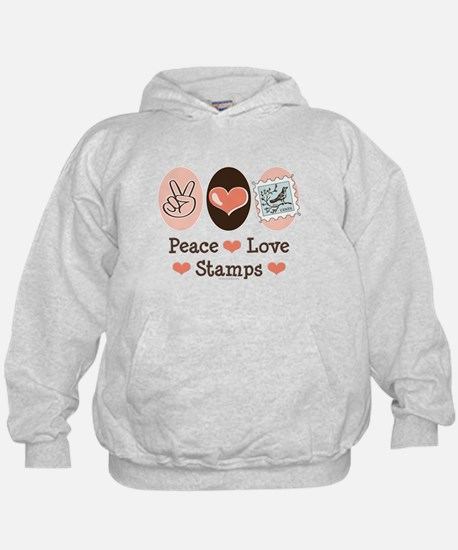 Peace Love Stamps Hoodie