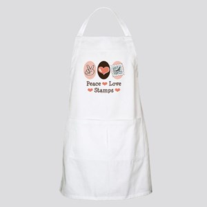 Peace Love Stamps BBQ Apron