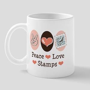 Peace Love Stamps Mug