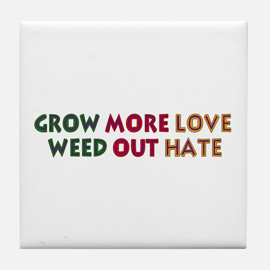 Grow More Love Tile Coaster
