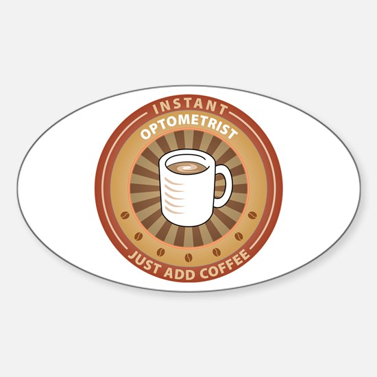 Instant Optometrist Oval Decal