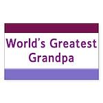 World's Greatest Stepdad Rectangle Sticker 10 pk)
