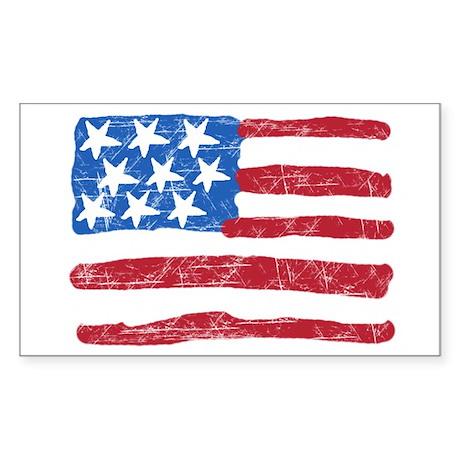 Grungy Flag Rectangle Sticker