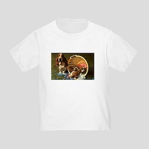 Basset Hound & Puppies Toddler T-Shirt