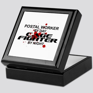 Postal Wrker Cage Fighter by Night Keepsake Box