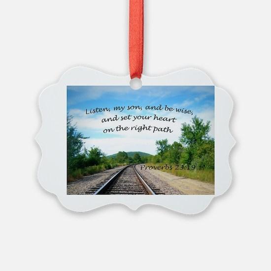 Proverbs 23:19 Ornament