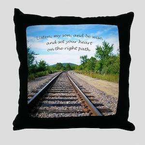 Proverbs 23:19 Throw Pillow