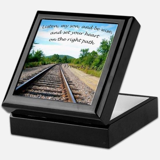 Proverbs 23:19 Keepsake Box