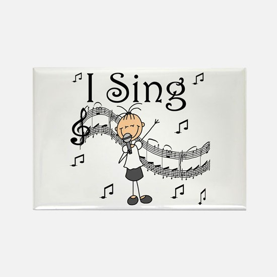 I Sing (FEMALE) Rectangle Magnet