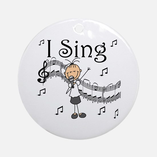I Sing (FEMALE) Ornament (Round)