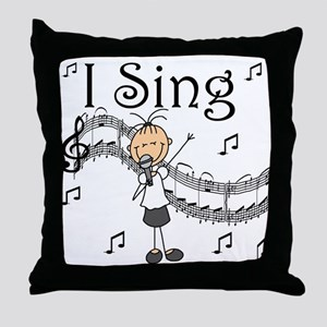 I Sing (FEMALE) Throw Pillow