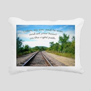 Proverbs 23:19 Rectangular Canvas Pillow