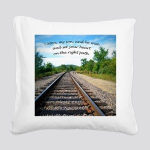Proverbs 23:19 Square Canvas Pillow