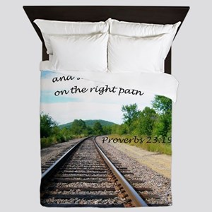 Proverbs 23:19 Queen Duvet