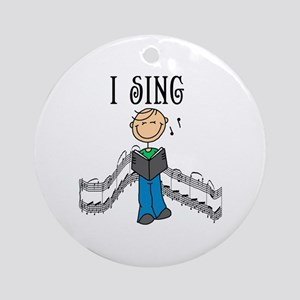 I Sing (MALE) Ornament (Round)