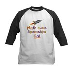 Math makes spaceships go! Kids Baseball Jersey