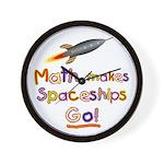 Math makes spaceships go! Wall Clock