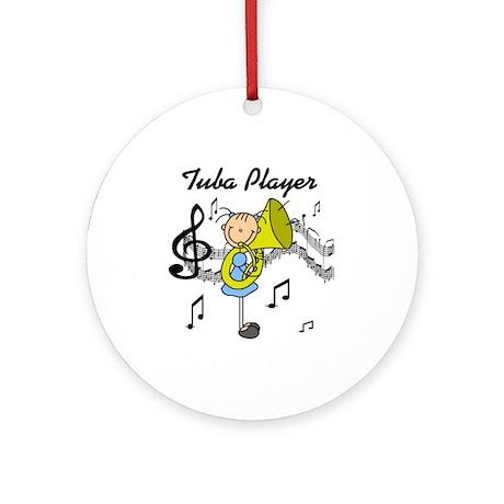Tuba Player Ornament (Round)
