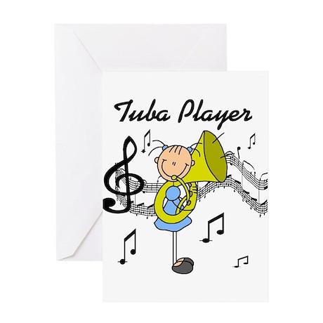 Tuba Player Greeting Card