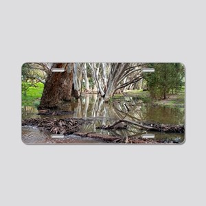 Outback creek reflections 2 Aluminum License Plate