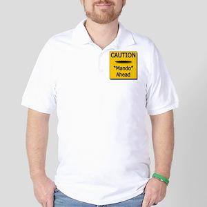 Caution Sign Disc Golf 4 Golf Shirt