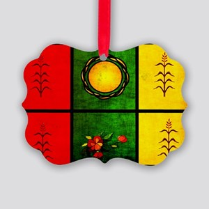 red yellow green Picture Ornament