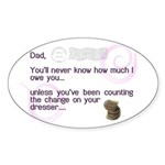 World's Greatest Dad Oval Sticker (50 pk)