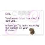 World's Greatest Dad Rectangle Sticker 10 pk)