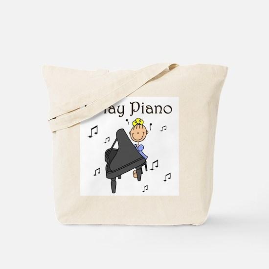 I Play Piano Tote Bag