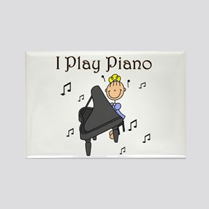 I Play Piano Rectangle Magnet