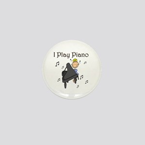 I Play Piano Mini Button