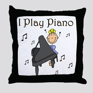 I Play Piano Throw Pillow