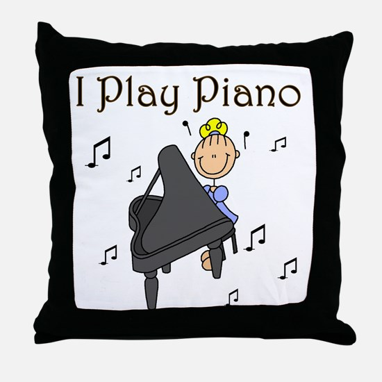I Play Piano Throw Pillow