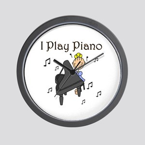 I Play Piano Wall Clock